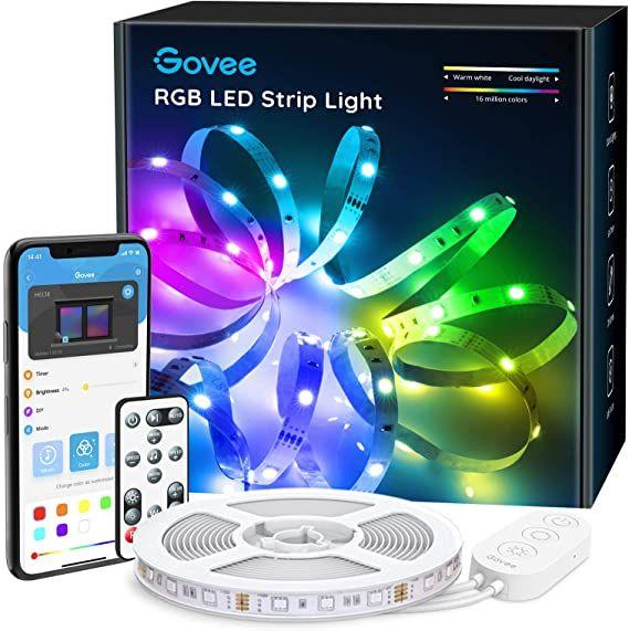 Govee Led Strip Lights For Room 15 29 Led Strip Lighting Led Color Changing Lights Strip Lighting
