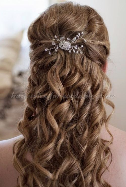 half up half down wedding hairstyles - half up wedding hairstyle