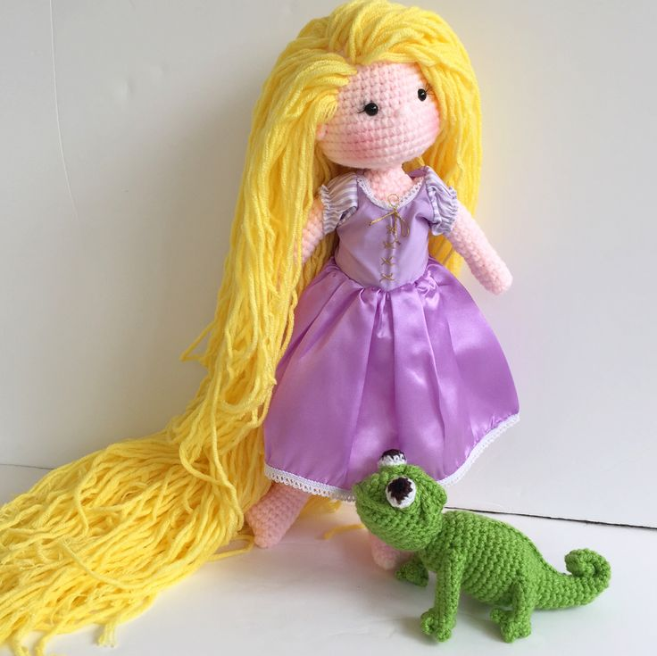 Rapunzel crochet doll and pascal