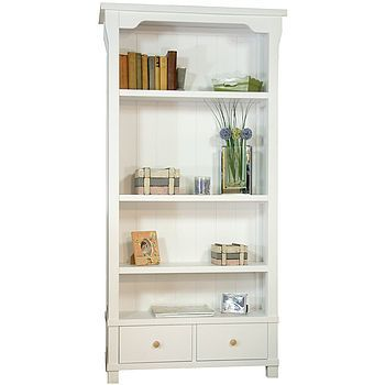 Lila Bookcase - This exceptionally built bookcase is crafted from solid hardwood, then beautifully finished in white for a clean, crisp look. £548  http://www.cruxbaby.co.uk/shop/nursery-furniture/lila-bookcase-2/