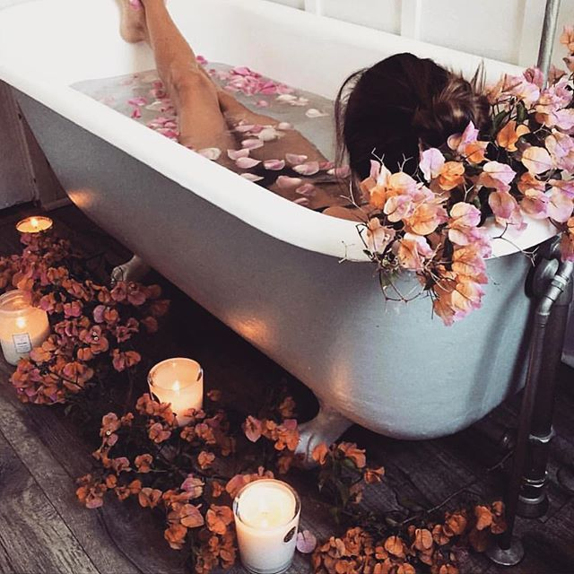 How we ladies like to take baths after a long day of work @flairthelabel