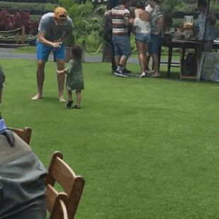 Harry playing with your guy's daughter, Darcy