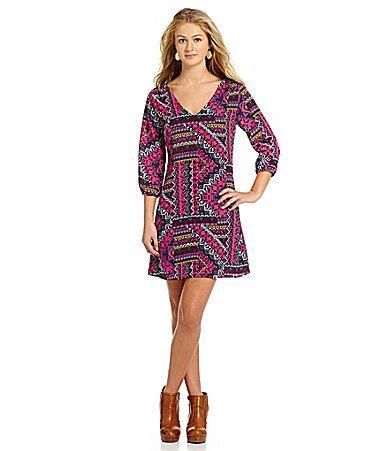 GB MosaicPrint Dress #Dillards
