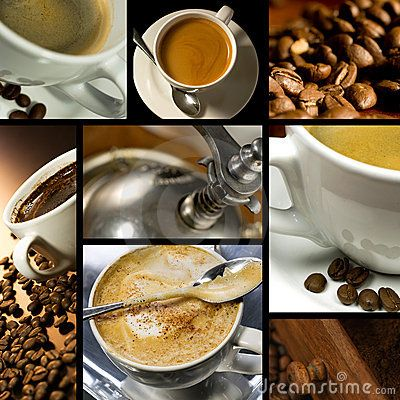 Coffee themed collage by Peto Zvonar, via Dreamstime