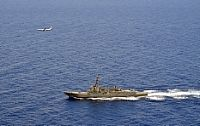 160629-N-YU572-374 SOUTH CHINA SEA (June 29, 2016) A P-8A Poseidon attached to Maritime Patrol Squadron (VP) 8 flies over the guided-missile destroyer USS Momsen (DDG 92). The guided-missile destroyers USS Spruance (DDG 111), USS Decatur (DDG 73) and Momsen are deployed in support of maritime security and stability in the Indo-Asia Pacific as part of a U.S. 3rd Fleet Pacific Surface Action Group (PAC SAG) under Commander, Destroyer Squadron (CDS) 31. (U.S. Navy photo by Naval Aircrewman 2nd…