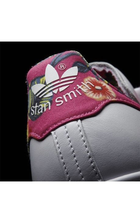 STAN SMITH ADIDAS ORIGINALS STAN SMITH IMPRIM�S FLEURS BLANC