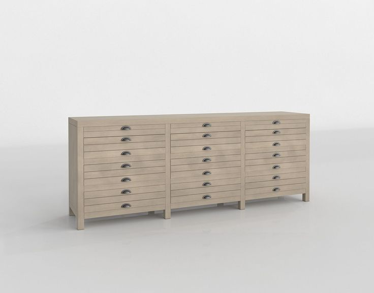 Driftwood 12 Drawer Credenza / Buffets / Buffets and Sideboards / Dining Room Furniture / 3D Catalogue / 3D Modeling and Virtual Reality / Glancing EYE