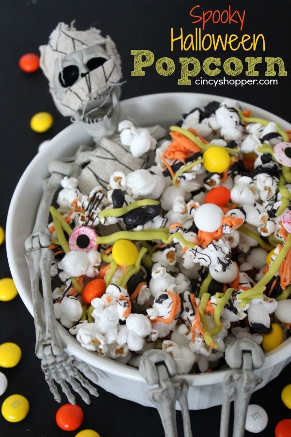 Spooky Halloween Popcorn. Super Simple and Spooky Treat for Halloween.