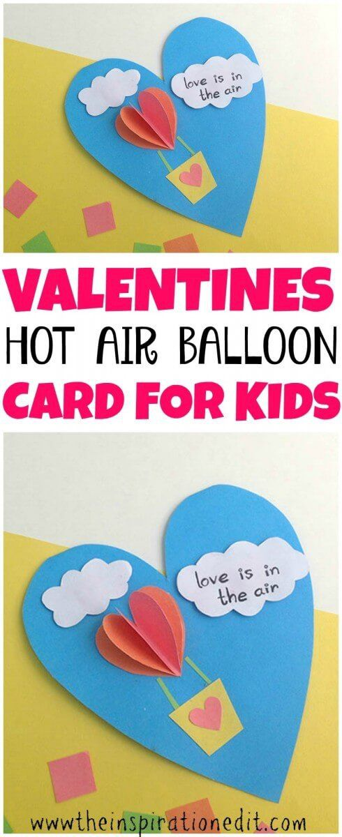 Valentines day card idea for kids  #Valentines #Valentinesday #crafting #craftsforkids #cardmaking #kidscraft #art #valentinesdaycard