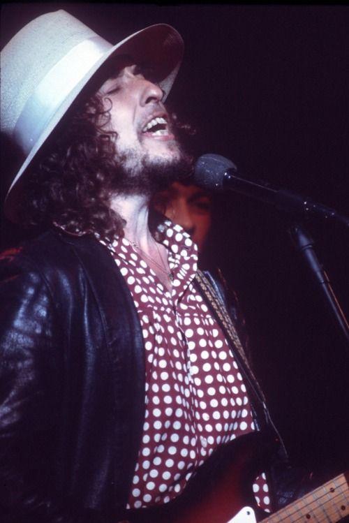 Bob Dylan during The Last Waltz (1976) Tumblr