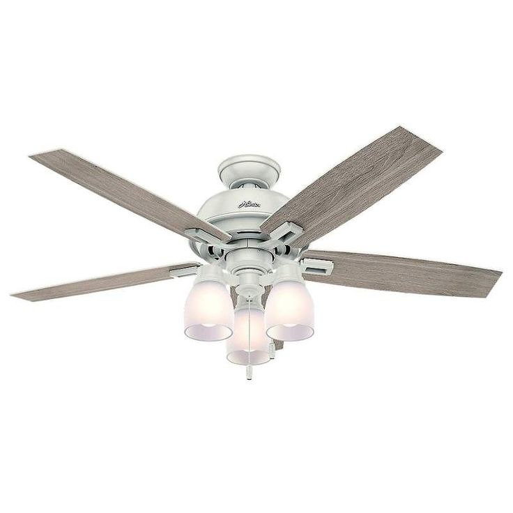 61 best ceiling fans images on pinterest ceiling fan ceiling fans hunter donegan 52 3 light 52 indoor ceiling fan 5 reversible blades and led aloadofball Choice Image