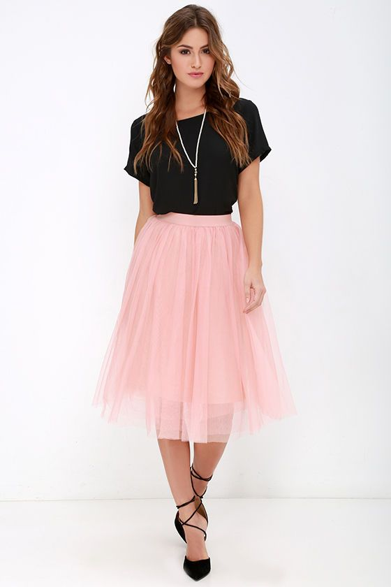 Urban Fairy Tale Blush Tulle Skirt at Lulus.com!
