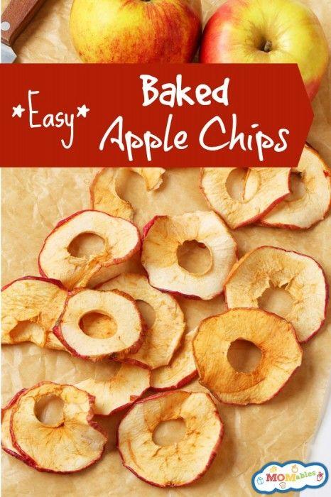 easy baked apple chips easy baked apples school snacks school lunch ...