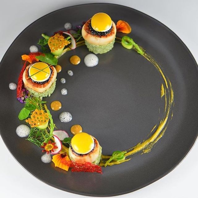 Kombucha Glazed Nantucket Bay Diver Scallops, Bamboo Rice, Green Coconut Curry, Sea Beans, Butternut Squash, Quail Eggs, Caviar, Sea Foam & Sea Corals.⛵️By @chef_ercan_ekinci via @PhotoAroundApp Use #chefsplateform to get featured!#seafood#food#foodie#foodpic#hungry#instafood#eat#eating#gourmet#foods#yum#yummy#chefslife#chefstalk#foodgasm#foodstagram#foodporn#chef#culinary#truecooks#gastronogram#instachef#wildchefs#repost#fresh#foodphotography#tasty#delicious