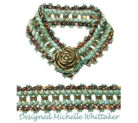 Double Herringbone Tile Bracelet Tutorial PDF by MKWDesigner