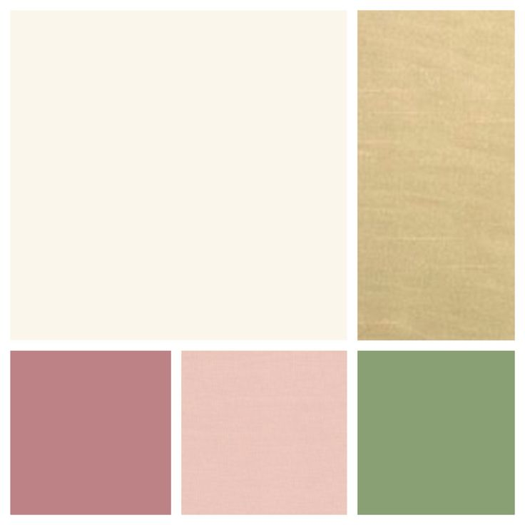 Cream Champagne Dusty Rose Blush Sage Wedding Colors