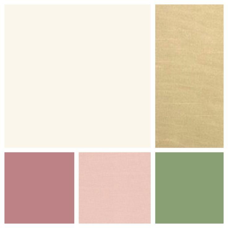 Cream, Champagne, Dusty Rose, Blush, Sage Wedding colors