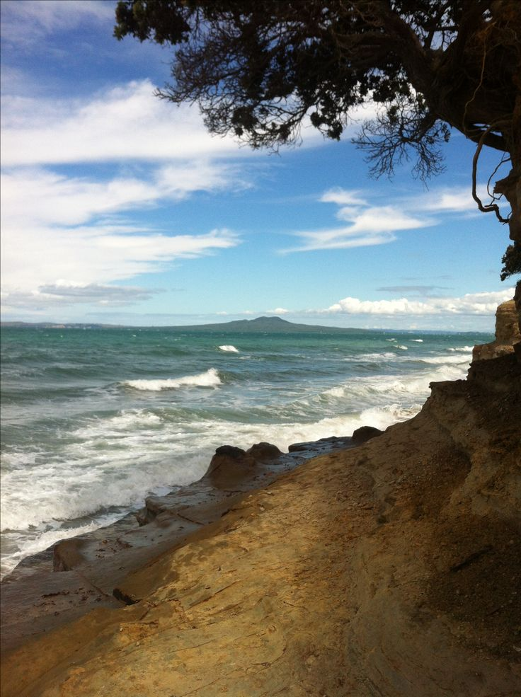 View of Rangitoto Island from the North Shore, Auckland