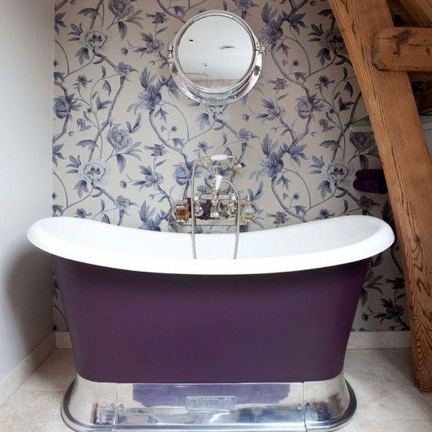 57 best wallpaper - bathrooms images on pinterest | room, bathroom