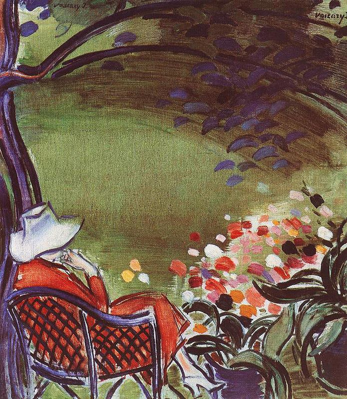 "lilithsplace: ""'Woman in the Garden', 1938 - Janos Vaszary (1867–1939) """