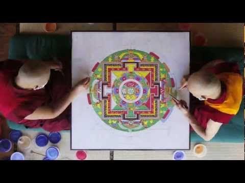 ▶ Tibetan Sand Mandala - Time Lapse - Asheville, North Carolina - Urban Dharma - GRAND PRIZE WINNER - YouTube