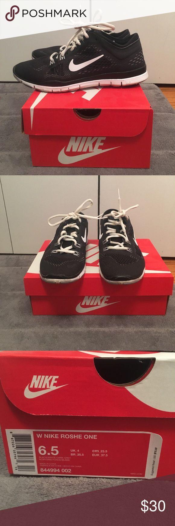 Black Nike Roshe black nike roshe one, wide, size 6.5, worn ONCE Nike Shoes Sneakers