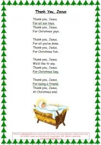 Thank You Jesus - a simple seasonal prayer