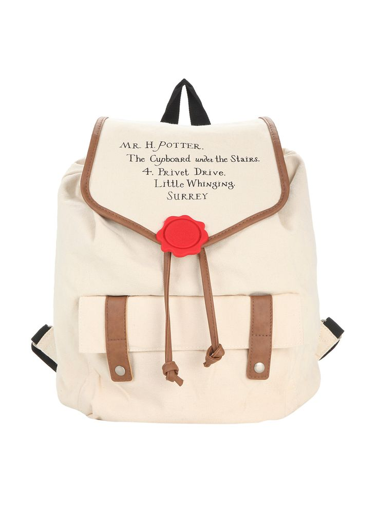 Harry Potter Hogwarts Letter Slouch Backpack | Hot Topic