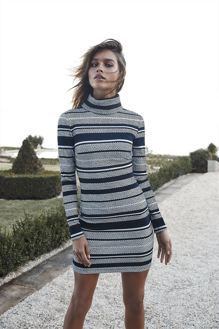 Esplanade Turtleneck Dress