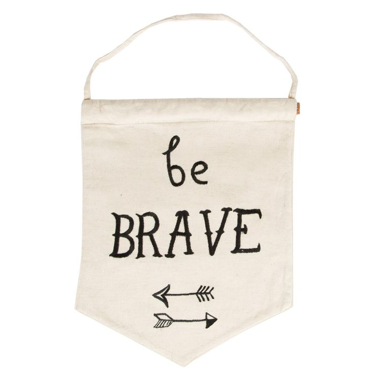 Kids Wall Hanging Flag, Be Brave, Nursery, Kids Bedroom Decor, Furnishing, Quote