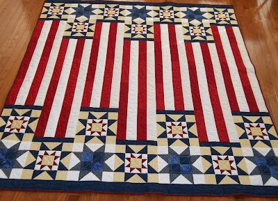 """Quilt of valor --""""Three Tours"""" I've never seen this configuration. So great!"""
