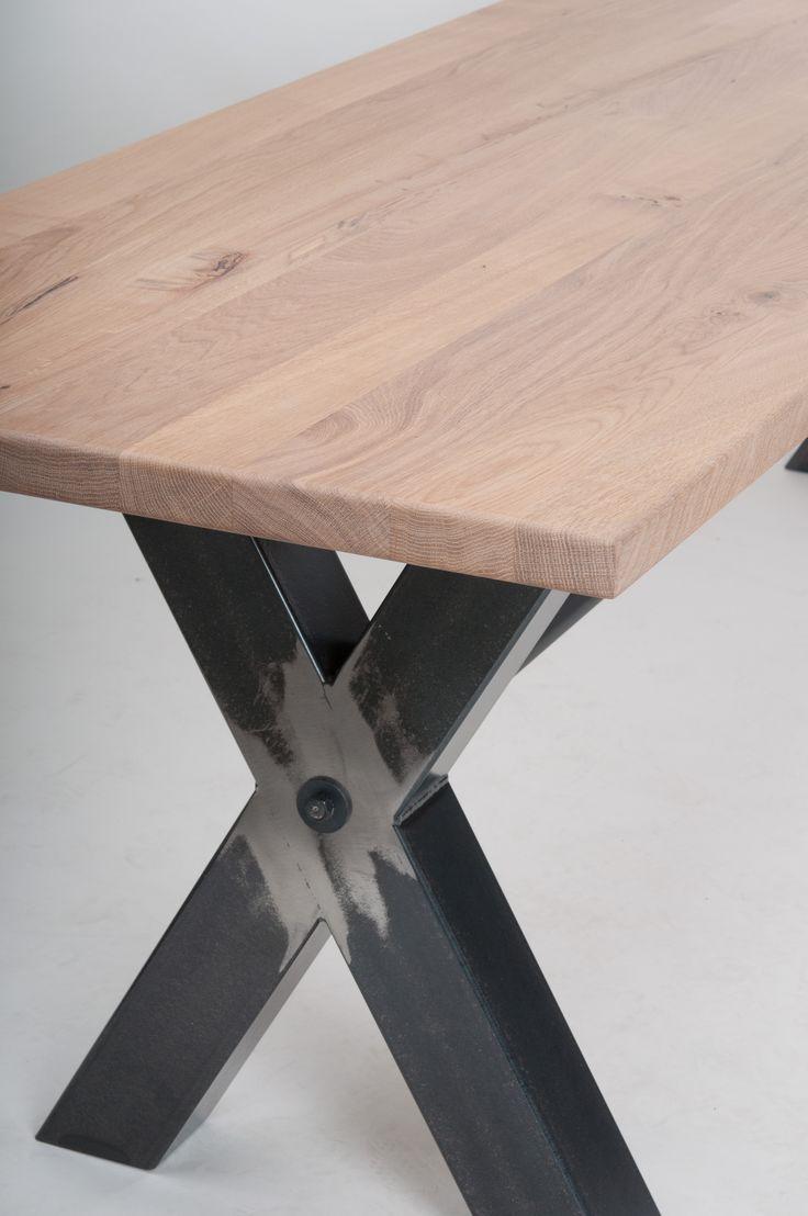 Tisch Kreuzwangentisch Untergestell Stahl 10 X Cm Gezundert Und Gewachst Stuhlfabrik Schnieder GmbH Industriestr 15 59348 Ldinghausen