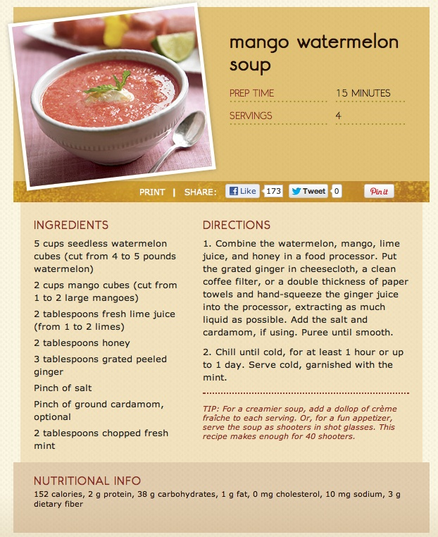 + images about WATERMELON on Pinterest | Watermelon soup, Watermelon ...