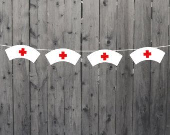 Party Garland Paper party garland Nurse party decorations