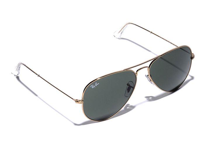 Ray-Ban Classic Gold Aviator Sunglasses, $145, www.southmoonunder.com