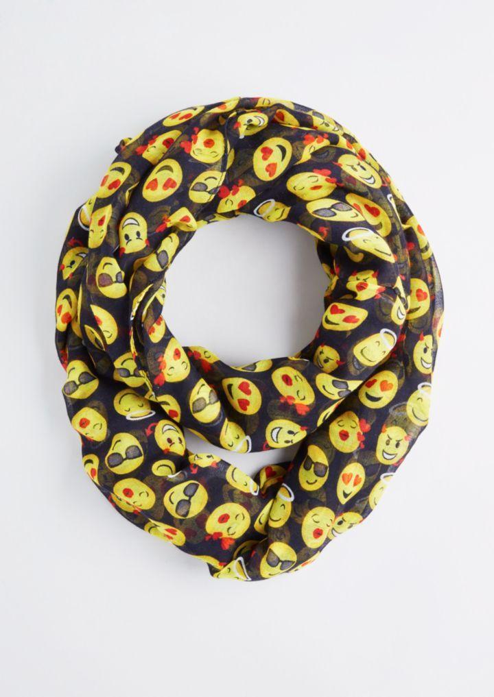 Sheer Emoji Infinity Scarf | Emoji | rue21