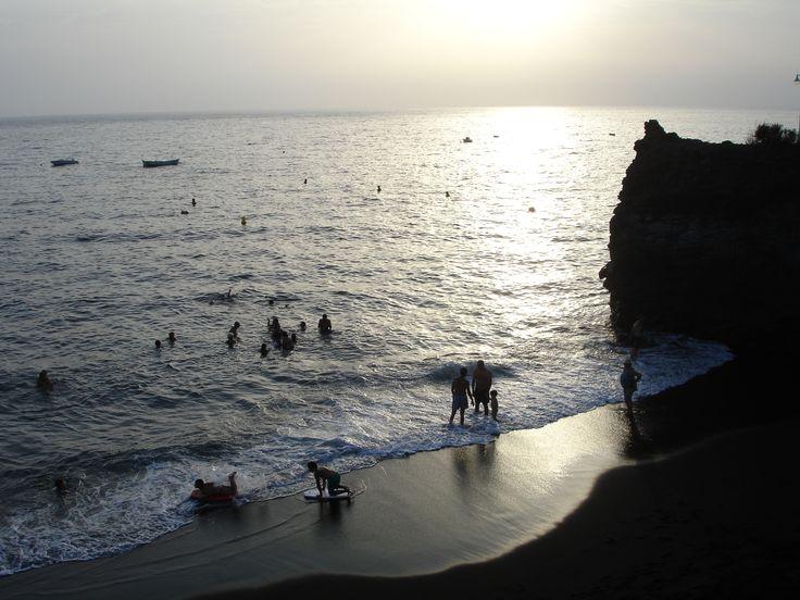 La Palma - beach of Puerto Naos in the early evening