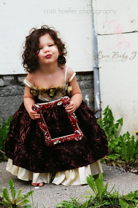 Little princess costume: Satin Rosette, Champagne Satin, Princesses Costumes, Rosette Dresses, Baby Faces, Kids Clothing, Baby Cakes, Extravagant Champagne, Little Princesses