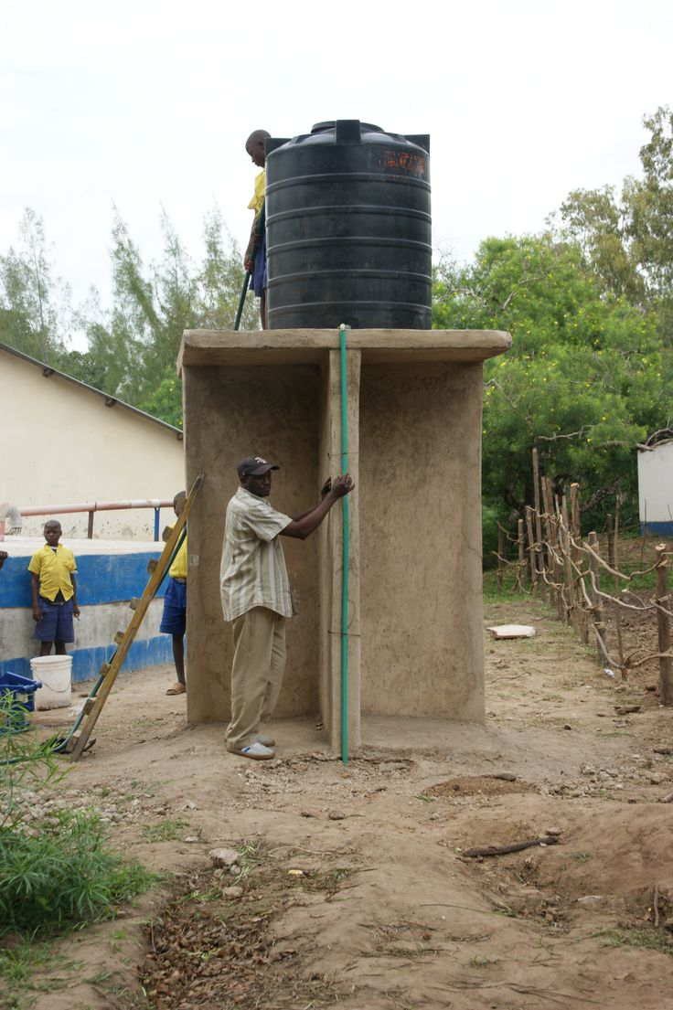 Watertank voor irrigatie in Kenya.