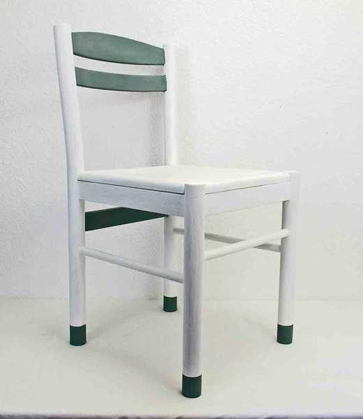 Stuhl Weiss Holz Vintage Shabby Chic Küchenstuhl Von Schlüter Kunst Und  Design   Stühle, Kommoden