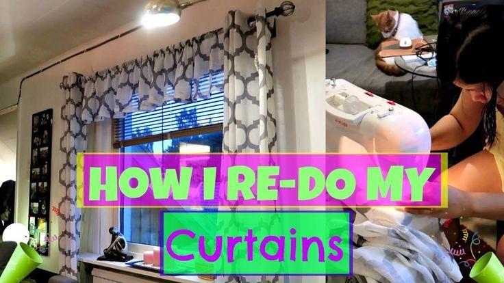 How I re-Do my Kurtina | Revamp Your Long Curtains | 🇸🇪 | Vlog#65