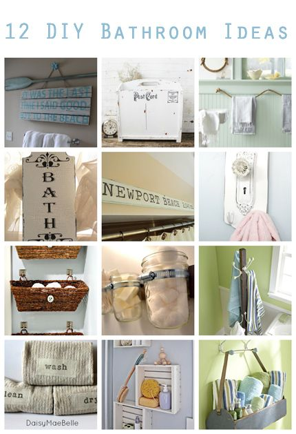 DIY:: #12 Beautiful Bathroom Decor Projects ! by @Vanessa Samurio Samurio Mayhew & CraftGossip
