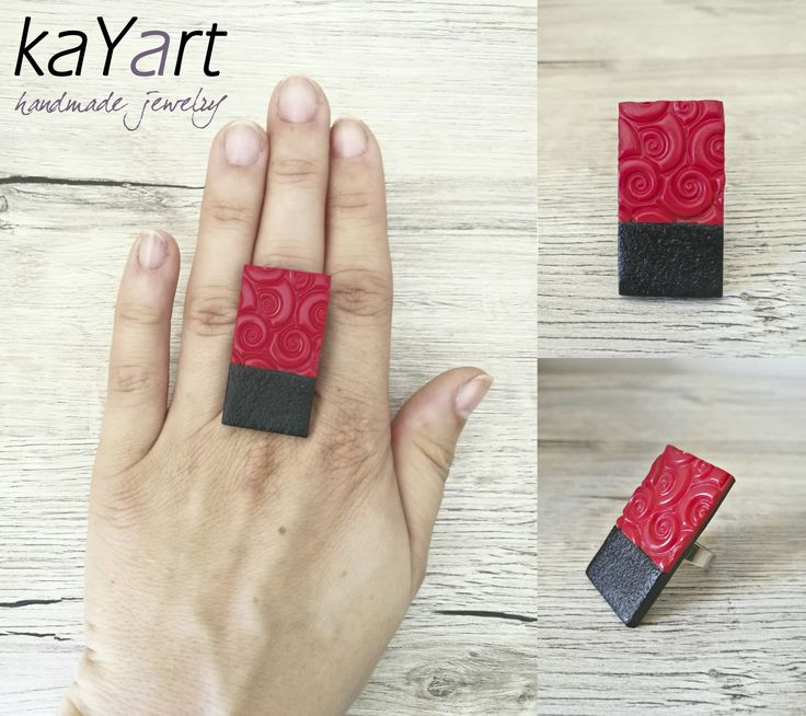 Polymer clay ring from my new colection <3   Visit for more info: www.facebook.com/KayaArt/
