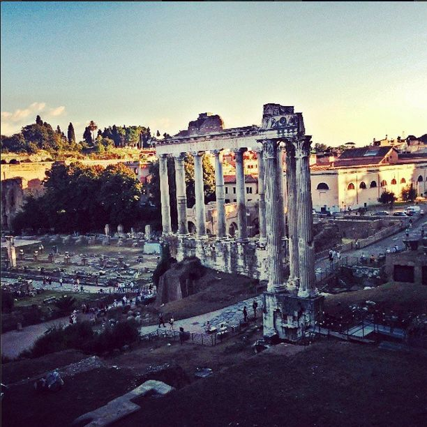 The ruins of the glory that was. Rome and its abundant history left Anisha speechless at every point.