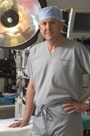 """Dr Charles Fraser - Surgeon-in-chief, chief of congenital heart surgery and cardiac-surgeon in charge - Texas Children's Hospital.  Described as """"an icon of pediatrics"""" he states that in addition to his surgical training, he perfected this """"tying"""" skill -- and the patience to go with it -- from fly fishing."""