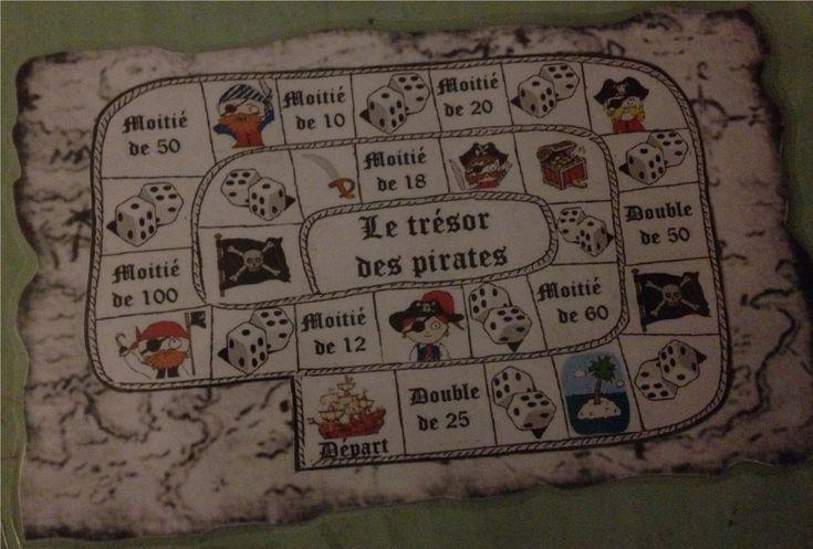 Travailler doubles et moitiés avec ... le trésor des pirates