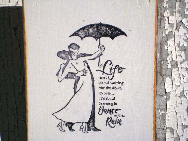 Dancing In The Rain,Anniversary Gift,Inspirational Quote,Wood Wall Art,Modern Art,Minimalist Wall Art,Bohemian Decor,Dancing Decor by BlackCrowCurios on Etsy