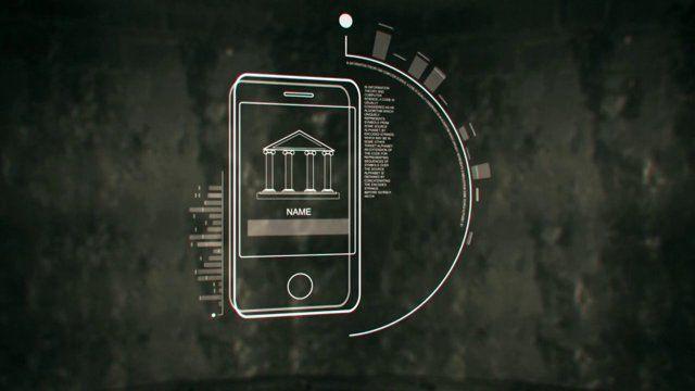 선으로 표현한 아이폰 디바이스