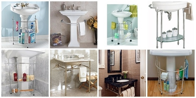 Under Sink Storage For Pedestal Sink : under pedestal sink storage rack Pedestal Sink Storage Solutions ...