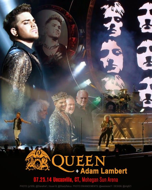 QUEEN + ADAM LAMBERT TOUR 2014 -7/25...Mohegan Sun, Uncasville, CT